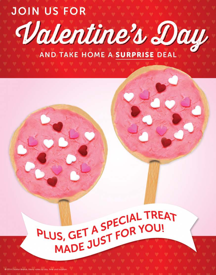 The restaurants celebrate Valentine's Day with a Two Can Dine for $15.99 offer