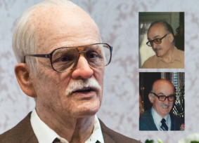 Johnny Knoxville as Irving Zisman, and Fred Cooke (nset), Irving's inspiration.