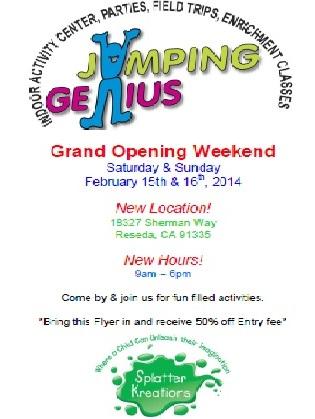 Jumping Genius Grand Opening