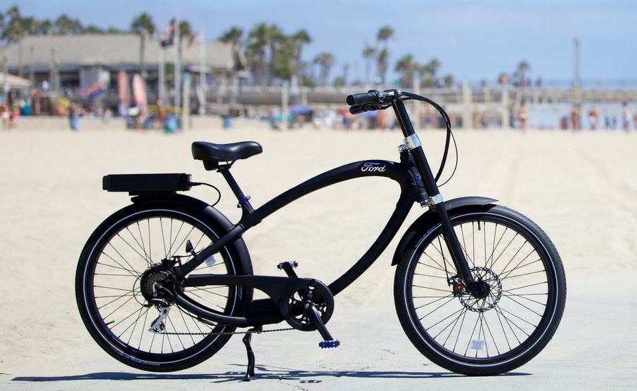 The Ford electric bike powered by Pedego offers a smooth, marshmallow ride.