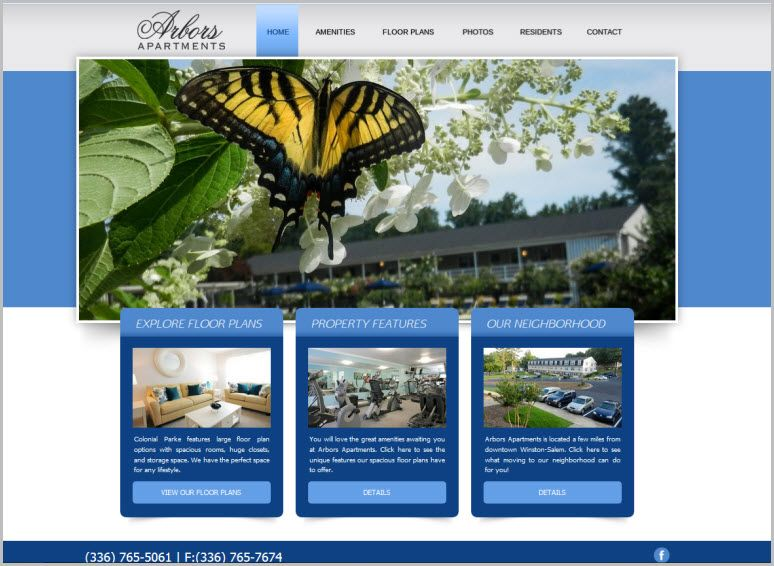 The Arbors Apartments Website