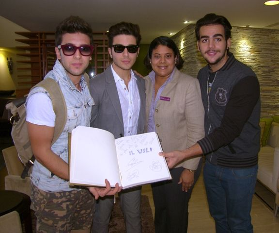 Piero Barone, Gianluca Ginoble, Venus Balbuena and Ignazzio Boschetto.