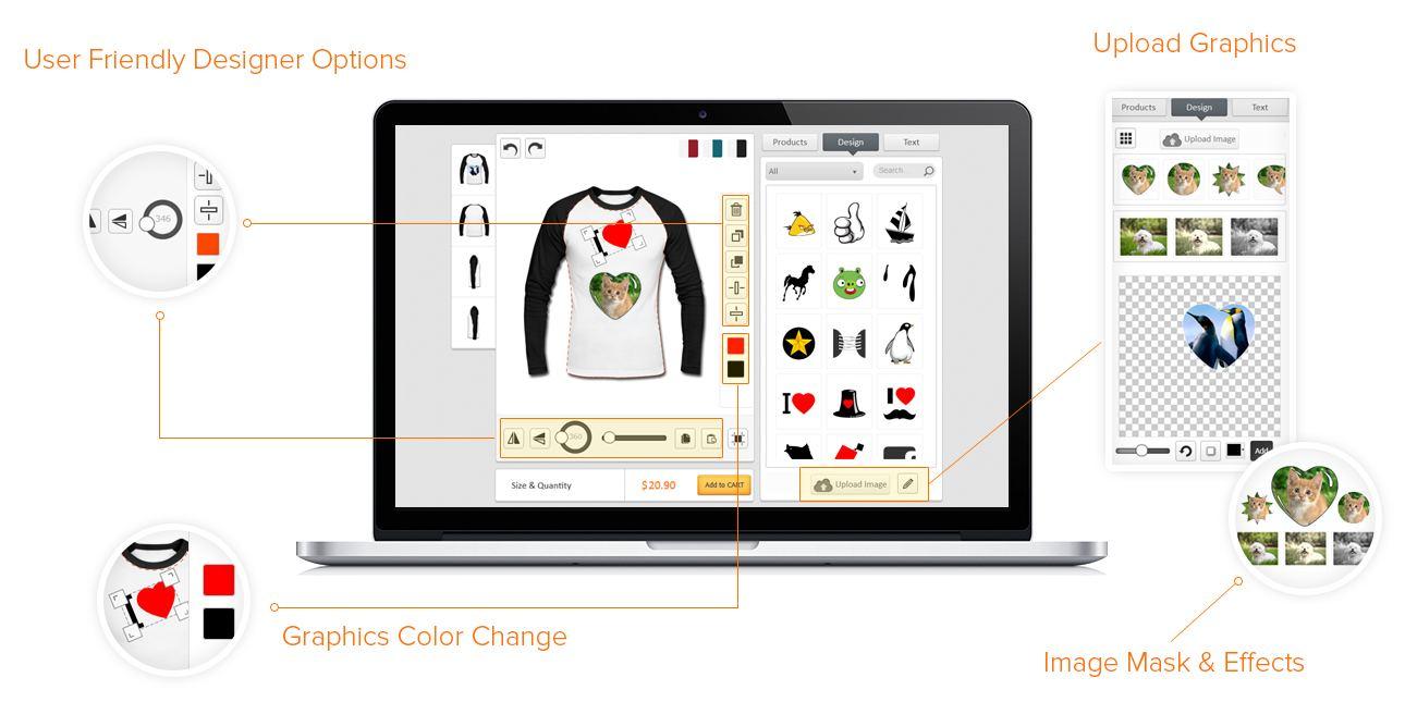 html5 t-shirt designer tool