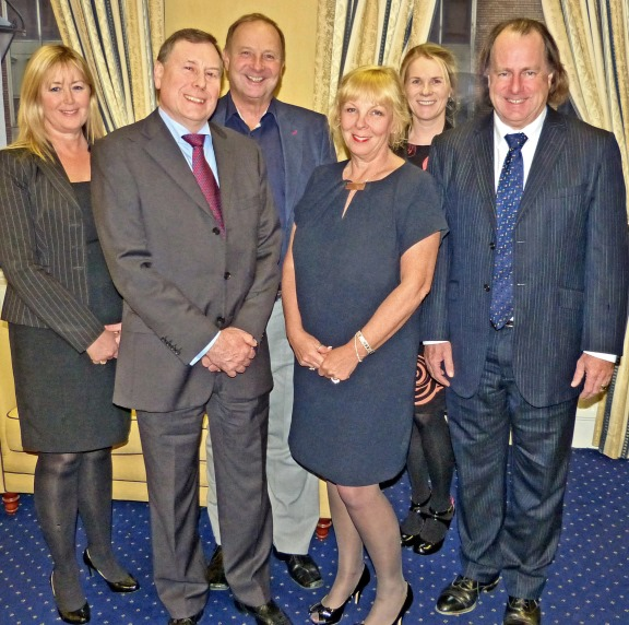 Jo Haigh (centre) with the ICM board of directors