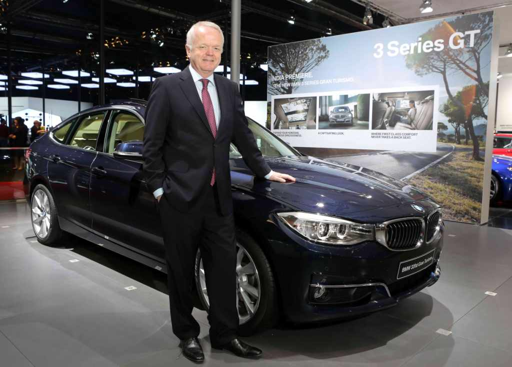 Philipp von Sahr, President, BMW Group India with the all-new BMW 3 Series GT