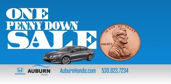Auburn Honda One Penny Down Sales Event