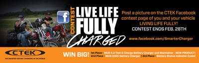 Go to www.facebook.com/SmarterCharger to post photos to participate
