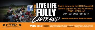 Go to www.facebook.com/SmarterCharger to post photos to participate