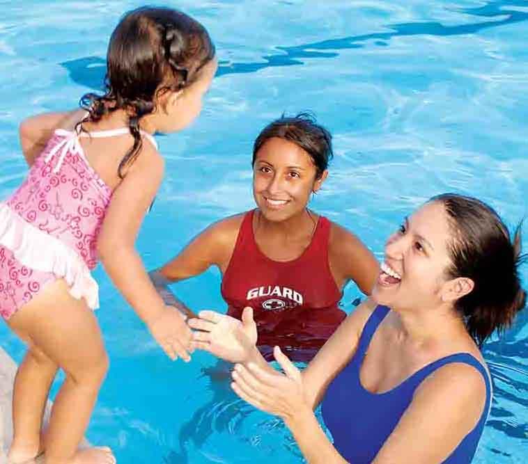 Conejo Valley YMCA winter swim lessons.