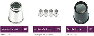 Jewellers Eye Loupes Magnifiers by Tools Impex