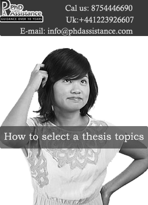 thesis topic selection