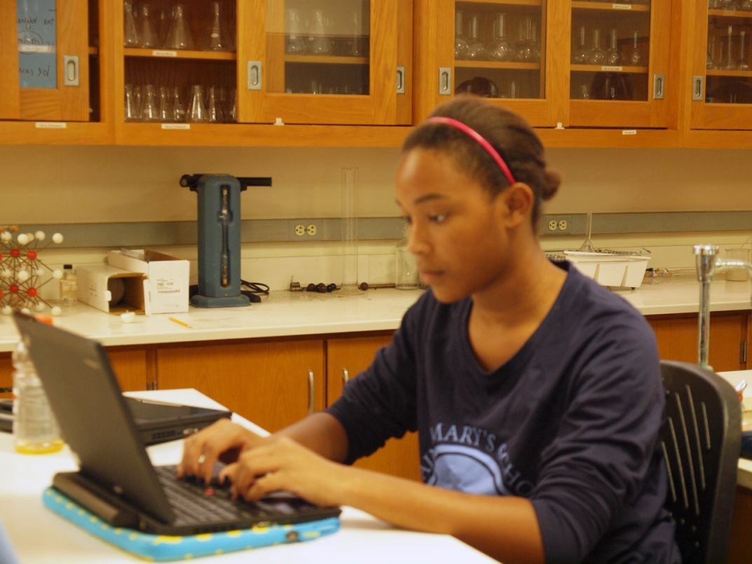 Saint Mary's School students will use their tablets on virtual learning days.