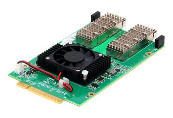 Portwell NIP-86020 40GbE Dual-Port Fiber QSFP+ Network Adapter