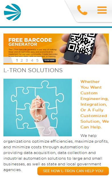 L-Tron.com is mobile optimized
