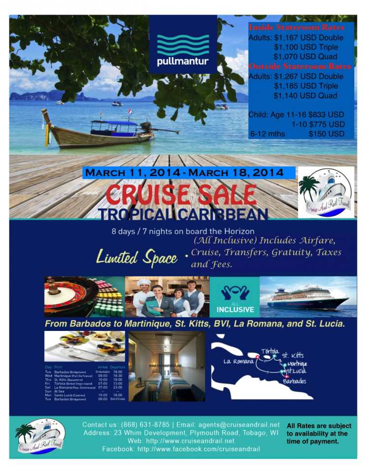 Cruise and Rail Travel Intl Ltd Cruise Sale