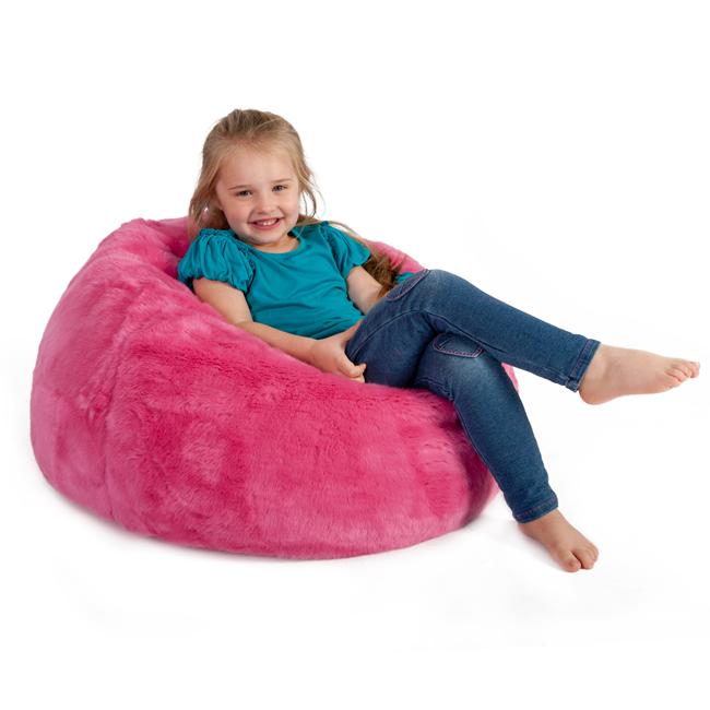 ICON Kids Bean Bag in pink faux fur
