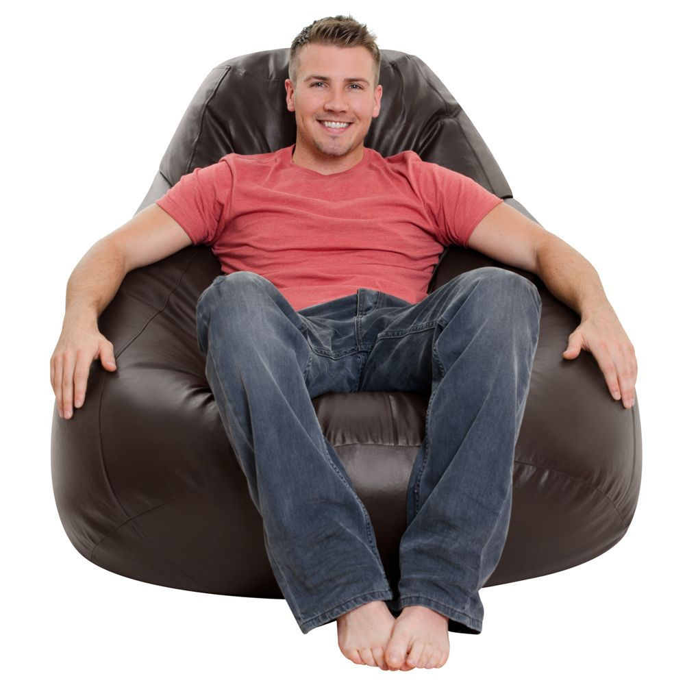 Whopper Giant Bean Bag in black or brown faux leather