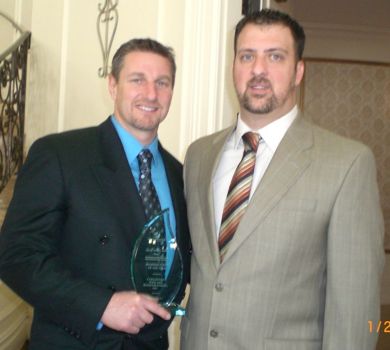 Concentric Tool President Klaus Babiarz (l) and office manager Jeff Cyr