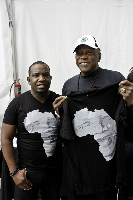(l-r) Dominique Siby (designer), Oscar Winner Louis Gossett, Jr.