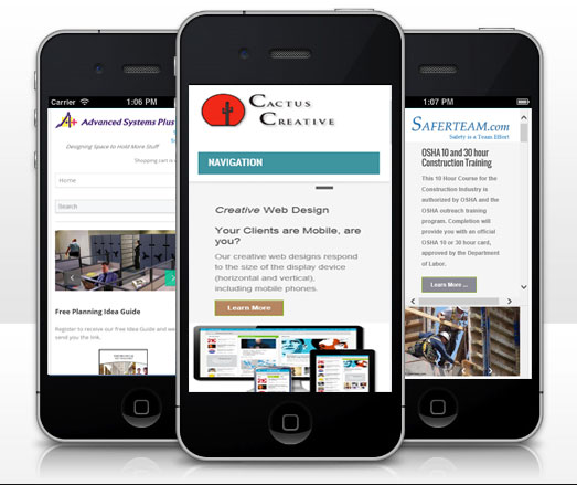 think mobile first for website