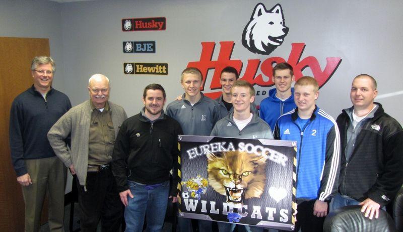 Husky Corporation Officials and Eureka, MO High School Soccer Team