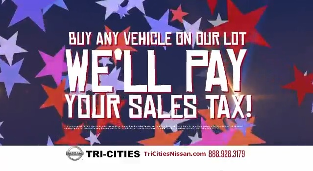 TriCities Nissan Free Tax Sales Event