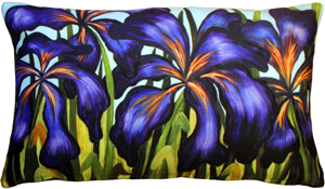 Sandra Forzani Purple Irises Throw Pillow
