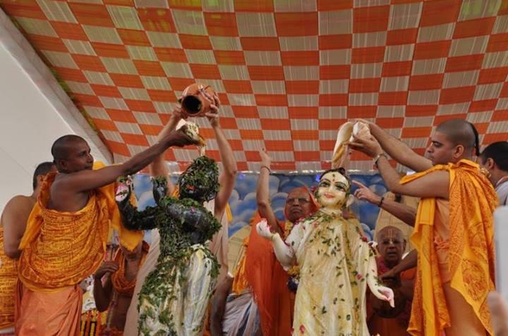 Ceremony at ISKCON Temple in Noida