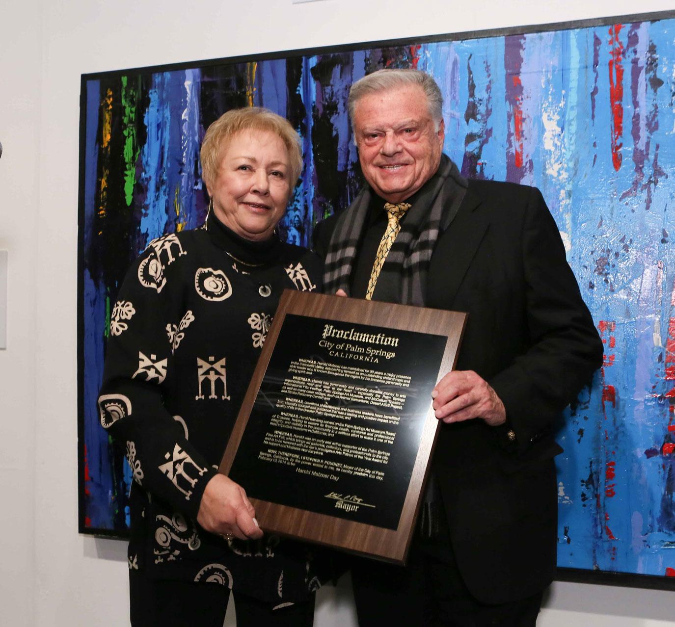 Ginny Foat and Harold Matzner - Photo Credit John Paschal JPI Studios