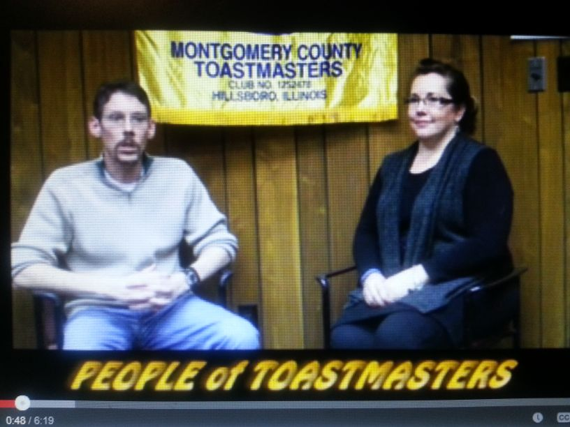 Jackie Rakers and Toastmaster Todd on PeopleofToastmasters.com
