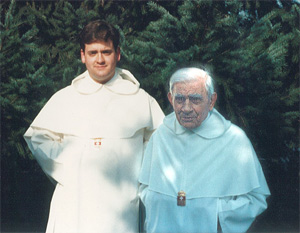 A photo of the intrepid Fr. Demetrius Marciano, with a young friar.