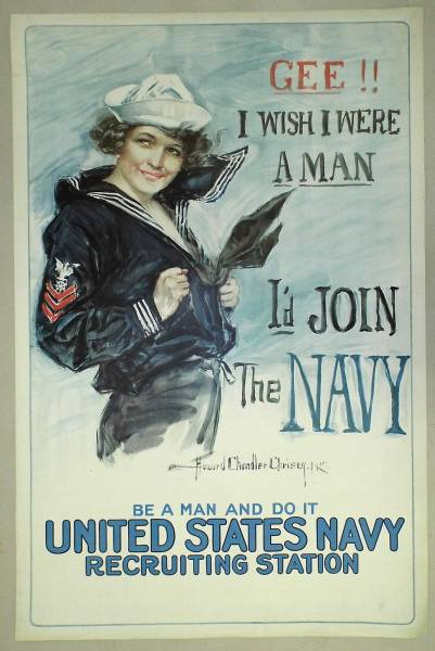 This rare, vintage enlistment poster for the U.S. Navy will be sold Feb. 26th.