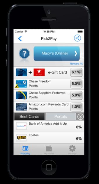 Pick2Pay Rewards Screen