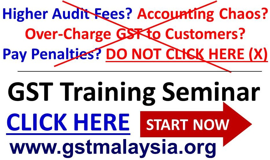GST Customs Malaysia Guide in GST Training Course 2014 - 2015