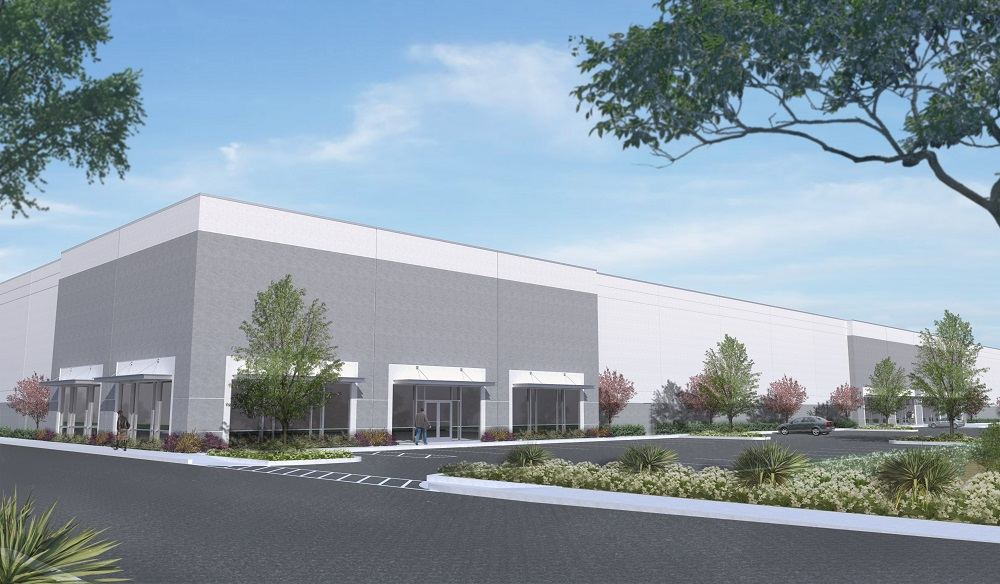 An artist's rendering of the future Panattoni facility