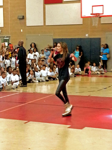 Hope Spin Performing At Bully Busters 702 Assembly