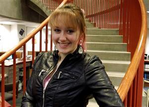 Makenna Lockhart, winner of the ESU Kansas City Regional Shakespeare Competition