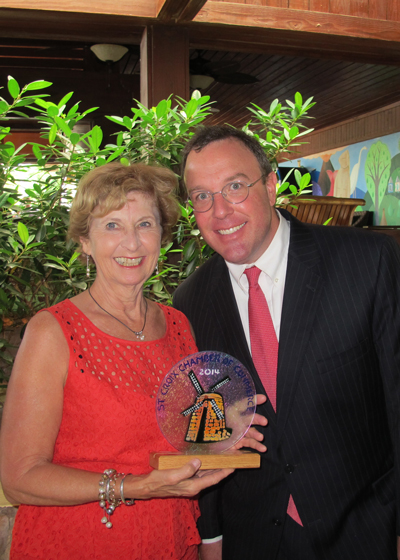 Lorine Williams with Mark W. Eckard