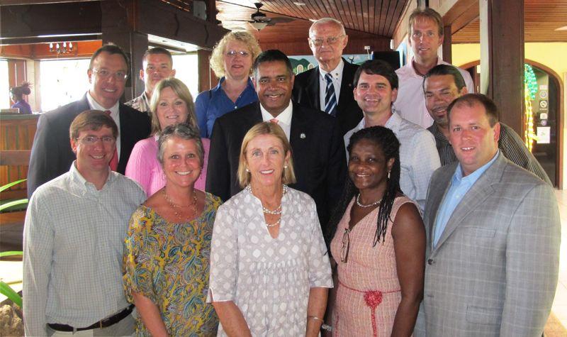STX Chamber of Commerce Board of Directors with Governor John P. de Jongh, Jr