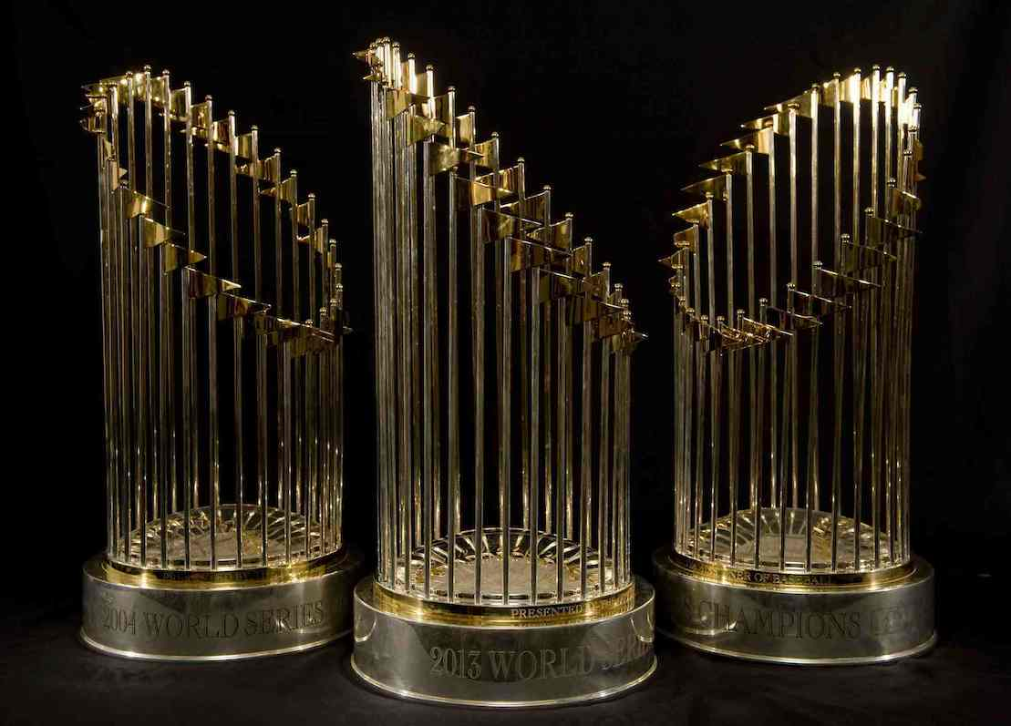 Boston Red Sox World Series Trophies