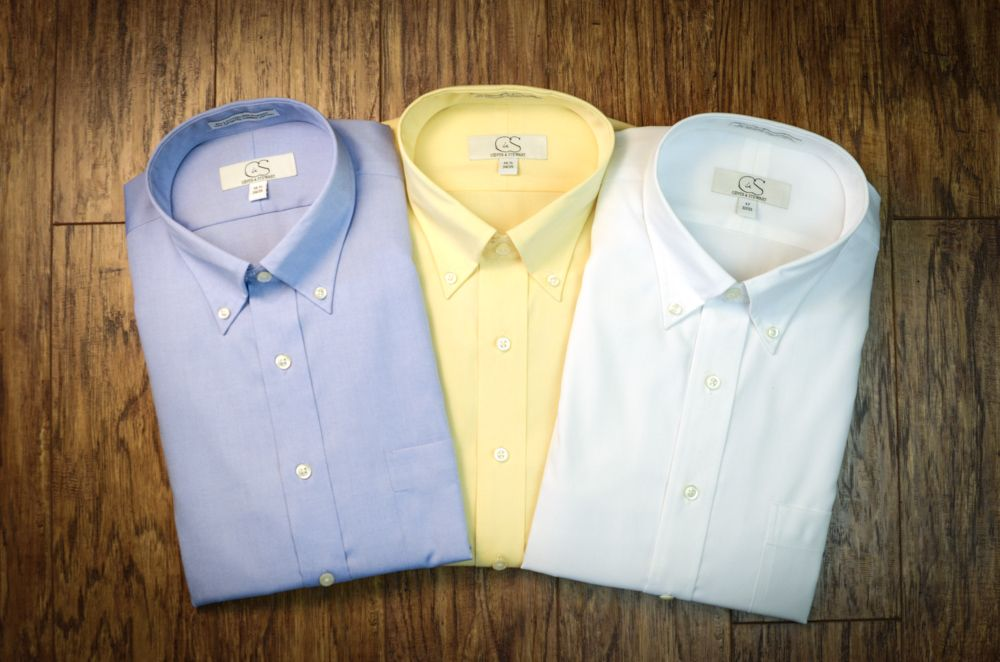 Cooper & Stewart non-iron cotton men's dress shirts
