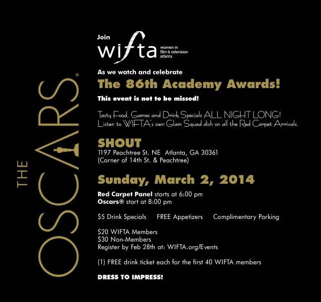 2014 WIFTA Oscar Party Flyer