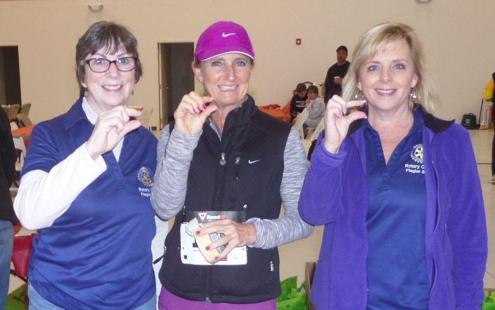 Rotary Club members Kathy Somers, Amanda Bailey & Sandra McDermott.