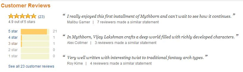 Mythborn - 4.9 out of 5 stars!