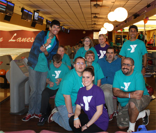 New Horizon Participants at the YMCA of Orange County's Bowl-A-Thon