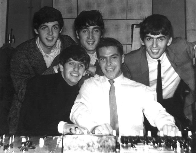 Richard Langham with The Beatles at EMI in 1963