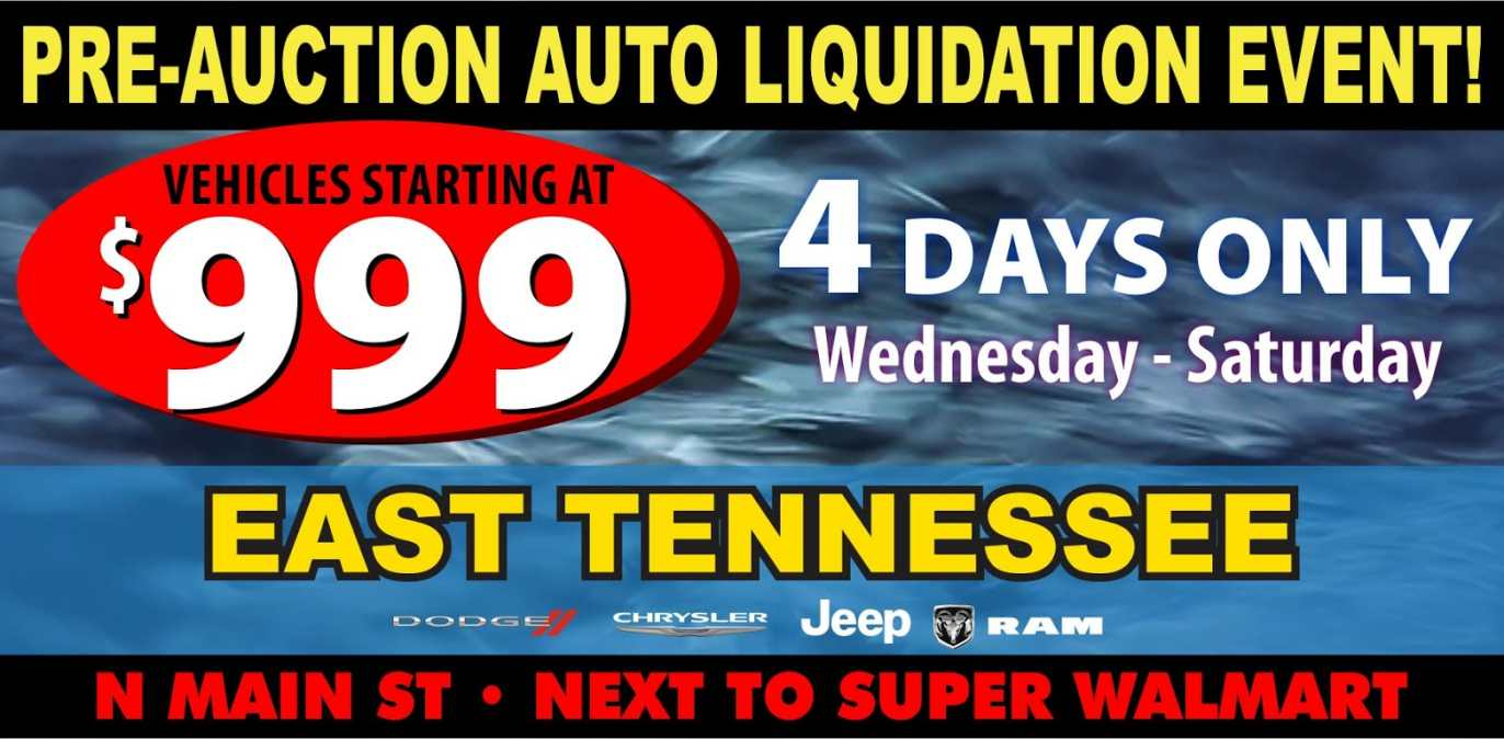 Pre-Auction Auto Liquidation Event at East Tennessee Dodge