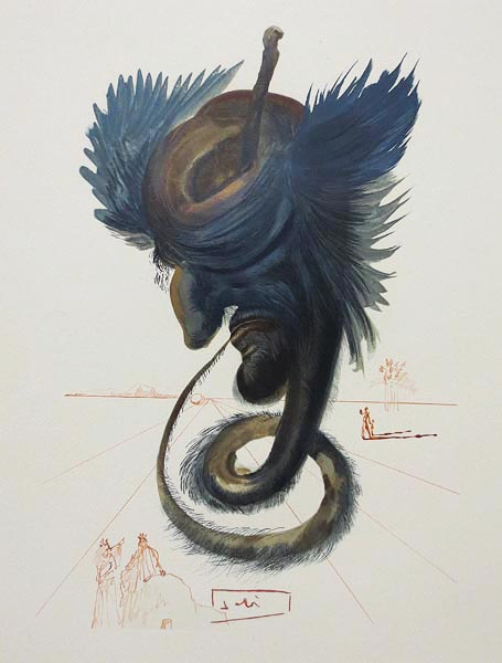 """L'Enfer Canto 20"" by Salvador Dali is one of many pieces being auctioned."