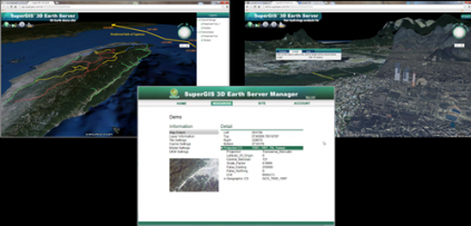SuperGIS 3D Earth Server Brings Brand New Map Mani