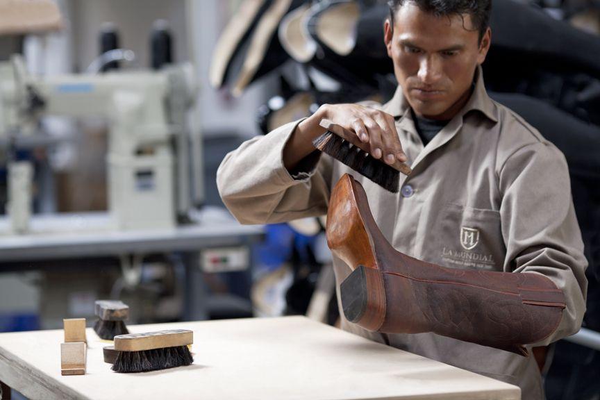Boot making artisan